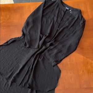 A.N.A. Black High Low Tunic Size M
